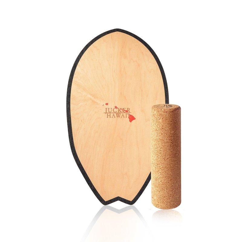 Balanceboard Set inkl JUCKER HAWAII Balance Board Homerider Surf Pure Korkrolle und Balance Kissen