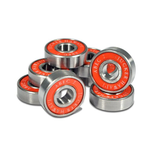 JUCKER HAWAII Longboard Skateboard Bearings ABEC 7 Red